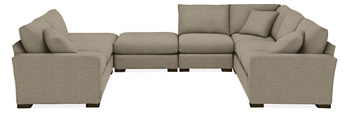 "Metro 145x113"" Six-Piece Modular U-Shaped Sectional"