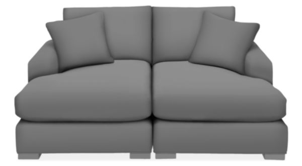 "Metro 74x64"" Two-Piece Double Chaise Sectional"
