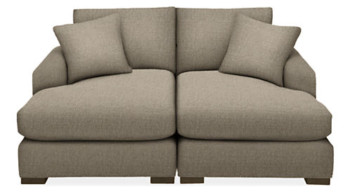 """Metro 74x64"""" Two-Piece Double Chaise Sectional"""