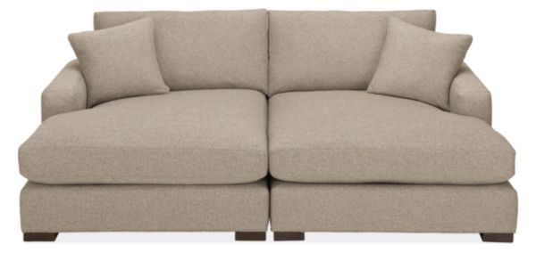 "Metro 90x64"" Two-Piece Double Chaise Sectional"