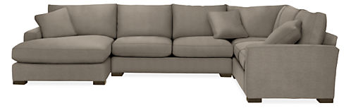 """Metro 146x113"""" Four-Piece Sectional with Left-Arm Chaise"""