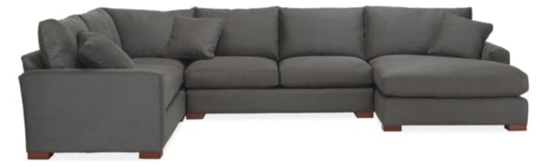 "Metro Custom 146x113"" Four-Piece Sectional with Left-Arm Chaise"