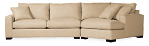 """Metro Custom 137"""" Sofa with Right-Arm Angled Chaise"""