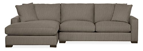 "Metro 120"" Sofa with Left-Arm Chaise"