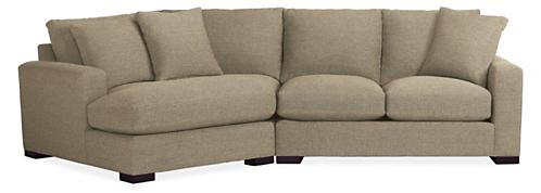 "Metro Custom 121"" Sofa with Left-Arm Angled Chaise"