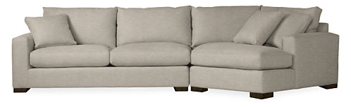 """Metro 137"""" Sofa with Right-Arm Angled Chaise"""