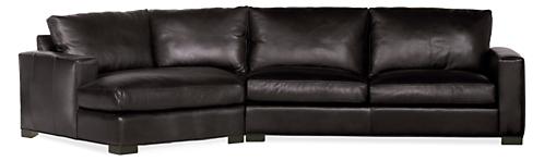 "Metro Custom 137"" Sofa with Left-Arm Angled Chaise"