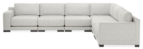 "Mira Custom 141x109"" Six-Piece Modular Sectional"