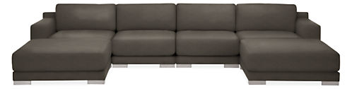 "Mira 154x82"" Six-Piece Modular U-Shaped Sectional"