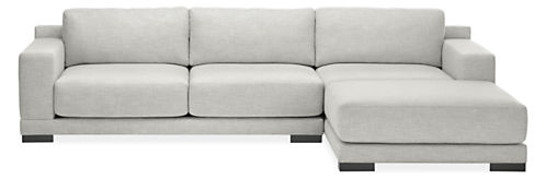 """Mira Extra Deep Custom 120"""" Sofa with Right-Arm Chaise"""