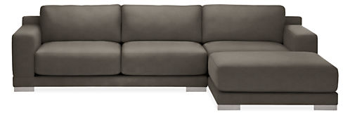 "Mira Extra Deep 120"" Sofa with Right-Arm Chaise"