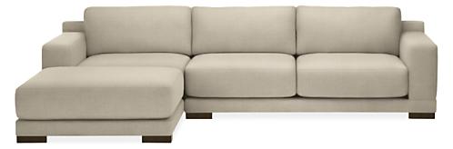 "Mira Extra Deep Custom 120"" Sofa with Left-Arm Chaise"