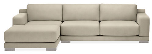 "Mira Custom 114"" Sofa with Left-Arm Chaise"