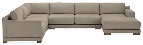 "Mira 141x109"" Four-Piece Sectional with Right-Arm Chaise"