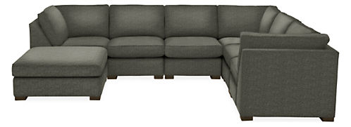 "Morrison 148x116"" Seven-Piece Modular Sectional with Ottoman"