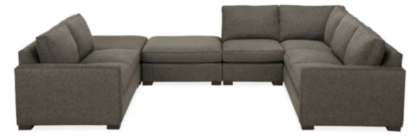 "Morrison Custom 158x112"" Six-Piece U-Shaped Sectional"