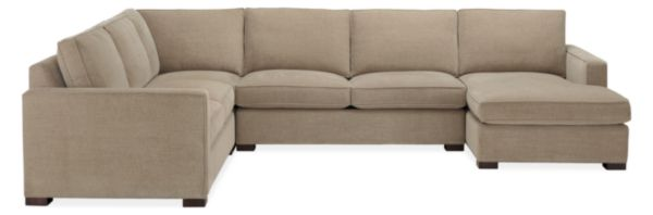 "Morrison 144x112"" Four-Piece Sectional with Right-Arm Chaise"
