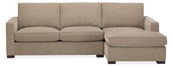 "Morrison Custom 108"" Sofa with Left-Arm Chaise"