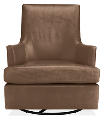 Nadine Leather Swivel Glider Chair & Ottoman