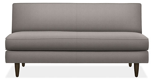 "Naomi 58"" Armless Loveseat"