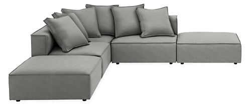 "Oasis 118x118"" Five-Piece Modular Sectional with Otto"