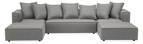 "Oasis 136x78"" Five-Piece U-Shaped Sectional"