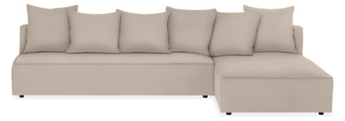 "Oasis 120"" Armless Sofa with Chaise"
