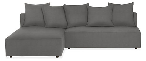 "Oasis 100"" Armless Sofa with Chaise"