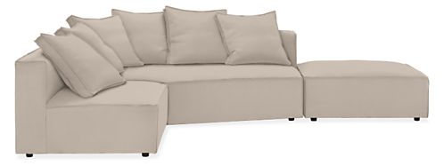 """Oasis 120x90"""" Sectional w/Left-Arm Corner Wedge"""