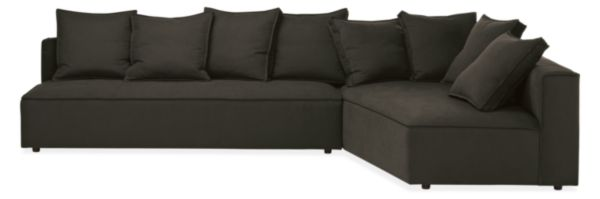"Oasis 130"" Armless Sofa with Right-Arm Corner Wedge"