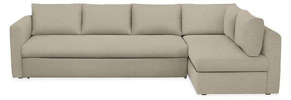 Oxford Custom Pop-Up Platform Sleeper Sofa with Chaise