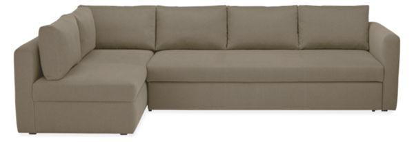 Oxford Pop Up Platform Sleeper Sofa with Storage Chaise Modern Sleeper Sofas Modern Living