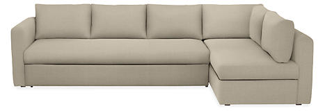 Oxford Custom Platform Sleeper Sofa With Chaise Modern Sectionals Living Room Furniture Board