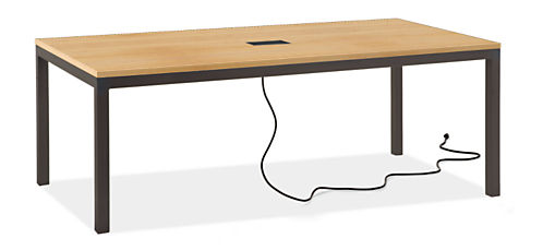 Parsons 78w 42d 29h Table with Tabletop 3-Port Power & Charging Outlet