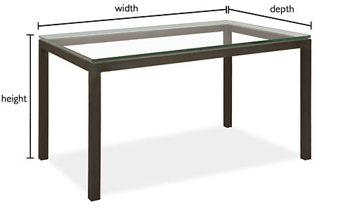 Parsons Custom Dining Table Modern Custom Dining Tables Modern - Coffee table depth