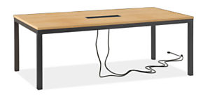 Parsons 78w 42d 29h Table with Tabletop 8-Port Power & Charging Outlet