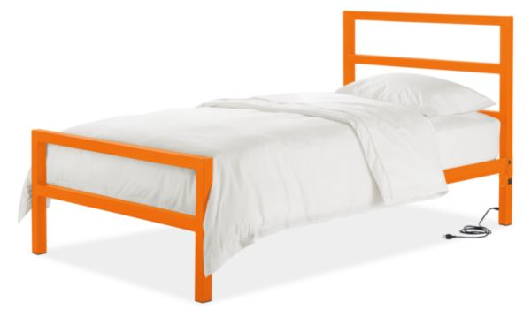 Parsons Twin Bed with Power and USB Outlets