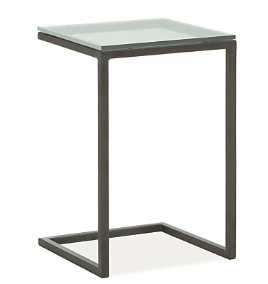 Parsons 18w 18d 25h C-Shaped End Table