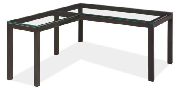 Parsons L-Shaped Desk 60w 30d 29h with 36w 18d Return