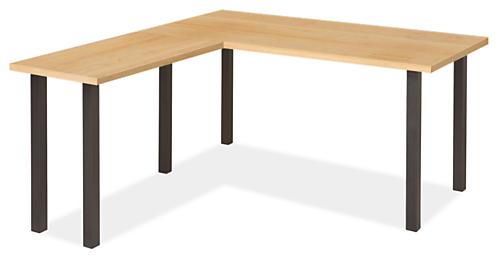 Parsons Leg L-Shaped Desk 72w 36d 29h with 36w 18d Return