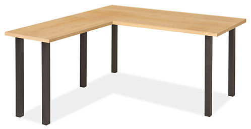 Parsons Leg L-Shaped Desk 72w 36d 29h with 36w 18d Return