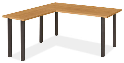 Parsons Leg L-Shaped Desk 72w 36d with 36w 18d Return