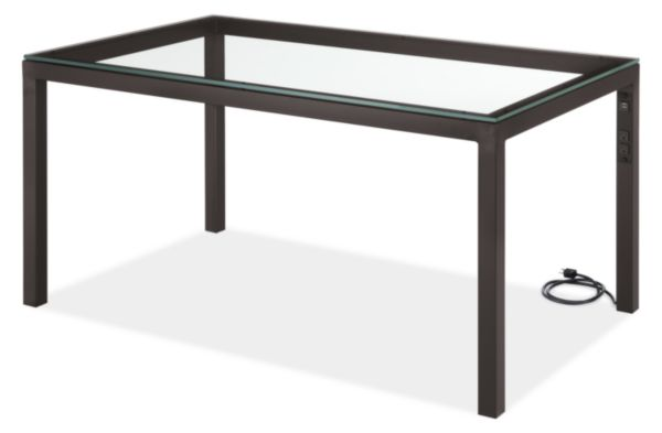 Parsons 60w 30d 29h Table with Left Power Cord and USB
