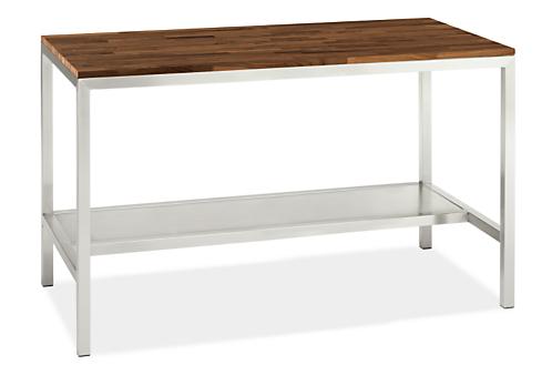 Portica 60w 30d 35h Narrow Shelf Counter Table