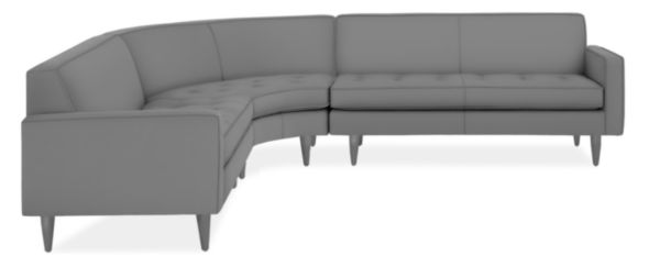 "Reese Custom 107x107"" Three-Piece Curved Sectional"