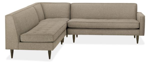 """Reese Custom 99x98"""" Three-Piece Sectional with Right-Arm Sofa"""