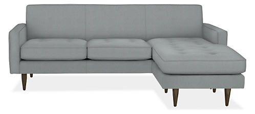 """Reese 85"""" Three-Cushion Sofa with Reversible Chaise"""