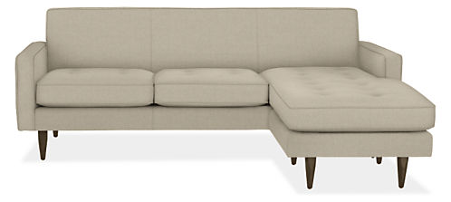 "Reese Custom 85"" Three-Cushion Sofa with Reversible Chaise"