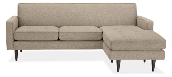 "Reese Custom 85"" Three-Cushion Sofa with Reversible Chaise"