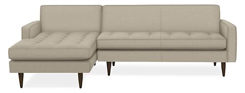 "Reese Custom 99"" Sofa with Left-Arm Chaise"